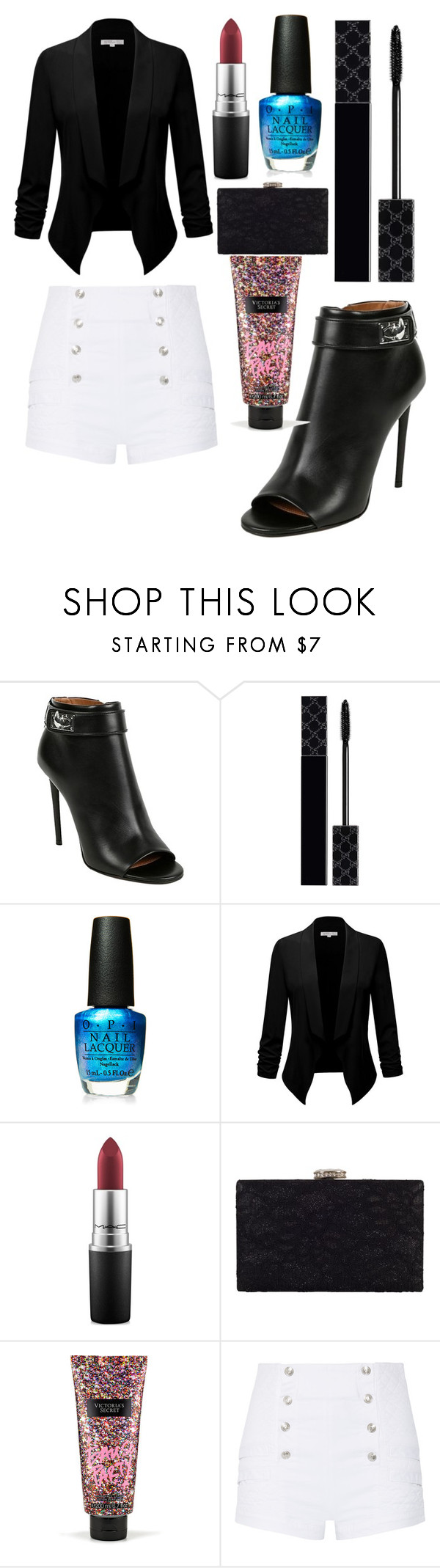 """Untitled #9581"" by ohnadine ❤ liked on Polyvore featuring Givenchy, Gucci, OPI, MAC Cosmetics, Chesca, Victoria's Secret and Pierre Balmain"
