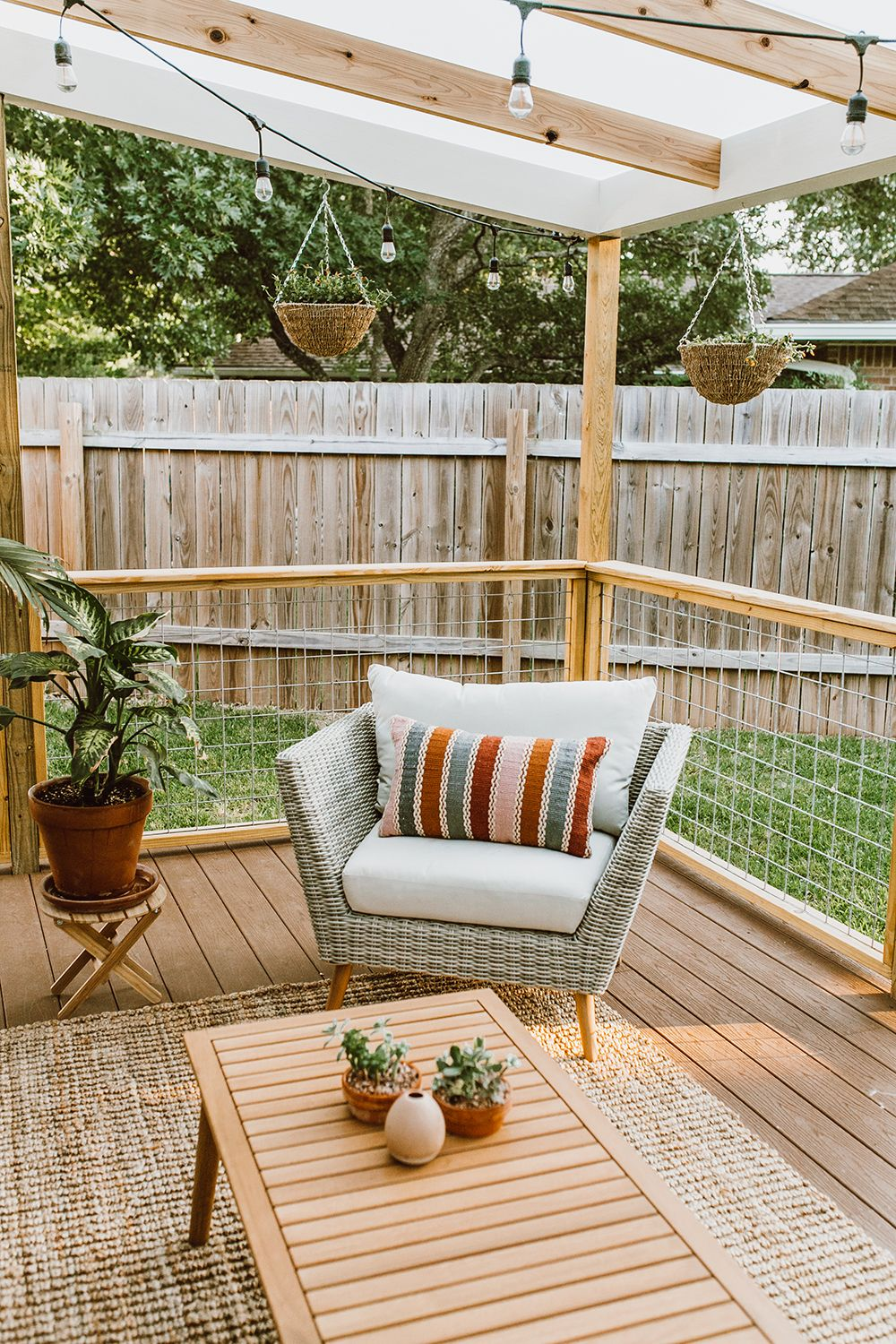 Before After Patio Renovation Reveal Livvyland Outdoor Living Rooms Small Patio Design Patio Design