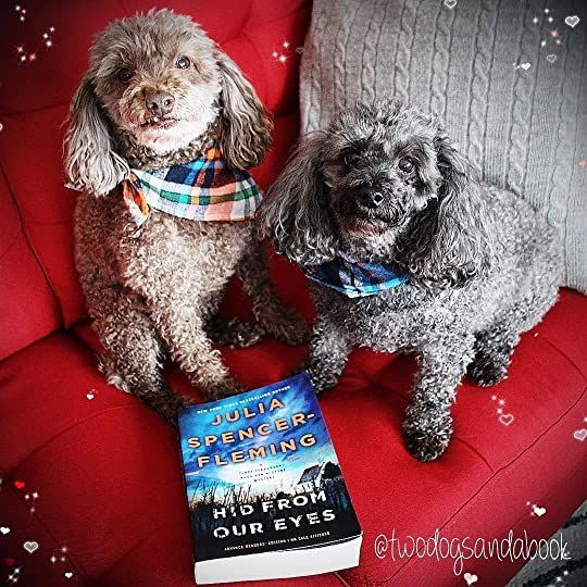 Click on the image to read my complete book review.  #poodles #poodlestagram #poodlesofinstagram #furbabies #dogsofinstagram #bookstagram #dogsandbooks #bookishlife #bookishlove #bookstagrammer #book #books #booklover #bookish #bookaholic #reading #readersofinstagram #instaread #ilovebooks #bookishcanadians #canadianbookstagram #bookreviewer #bookcommunity #bibliophile #bookphotography #hidfromoureyes #juliaspencerfleming #bookreview #BooksConnectUs
