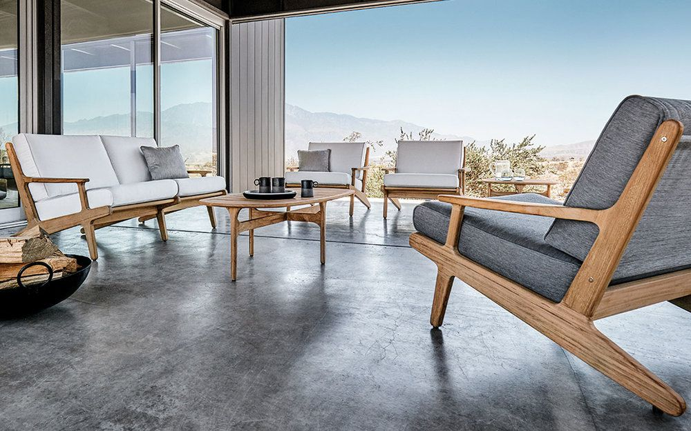 Charming Post Modern Mid Century Styled Patio Furniture By Gloster; For Stylish,  Sleek Simplistic