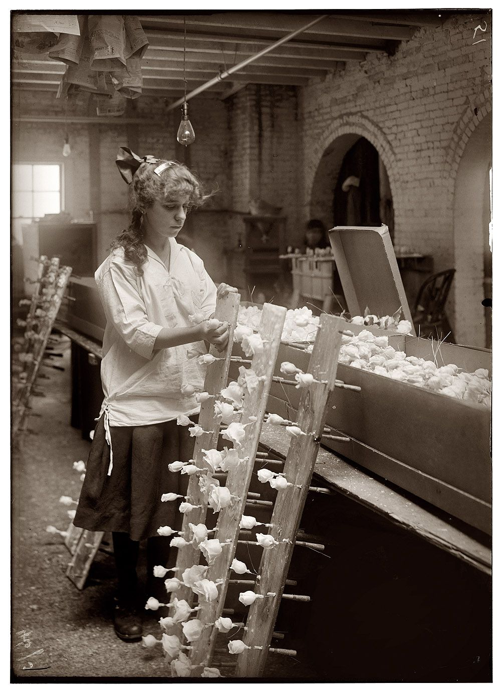 Margaret Ciampa 14 Years Old Finishing Flowers At Boston Floral