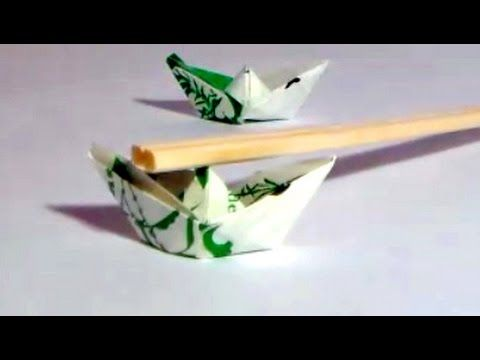 Tiny Origami Boat How To Make A Chopstick Rest Hashioki Out Of A