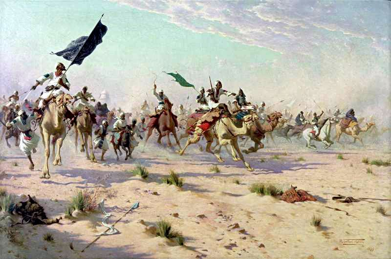 After a fierce clash the 21st Lancers drove them back (resulting in three Victoria Crosses being awarded).  On a larger scale the British advance allowed the Khalifa to re-organize his forces. He still had over 30,000 men in the field and directed his main reserve to attack from the west while ordering the forces to the northwest to attack simultaneously over the Kerreri Hills.