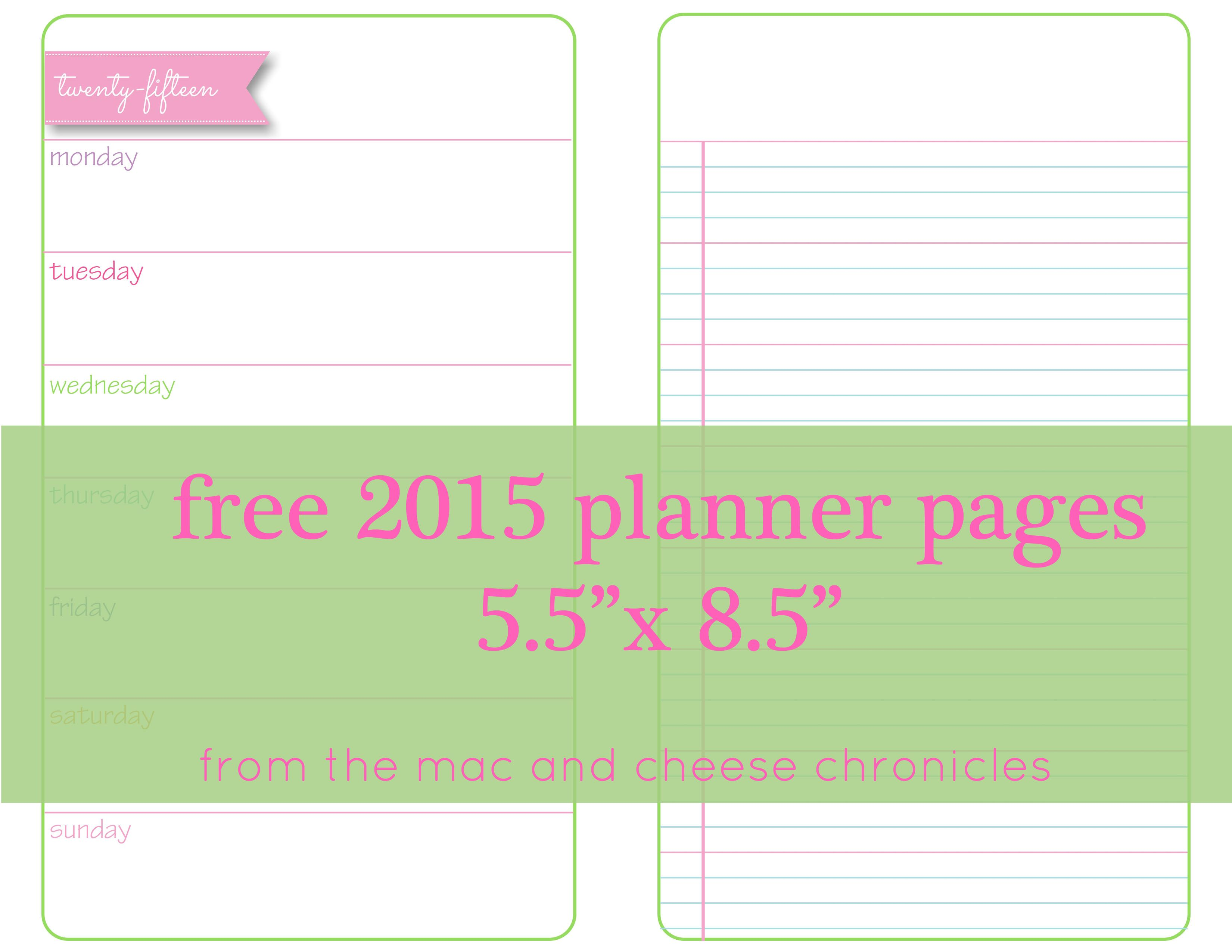 These undated printable planner pages are free to download. Please ...