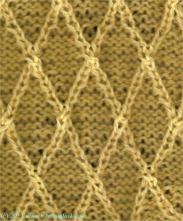 Basic Knit Stitch Left Handed : Basic Lattice mof8 Stitches Pinterest Stitch, Knit patterns and Patterns