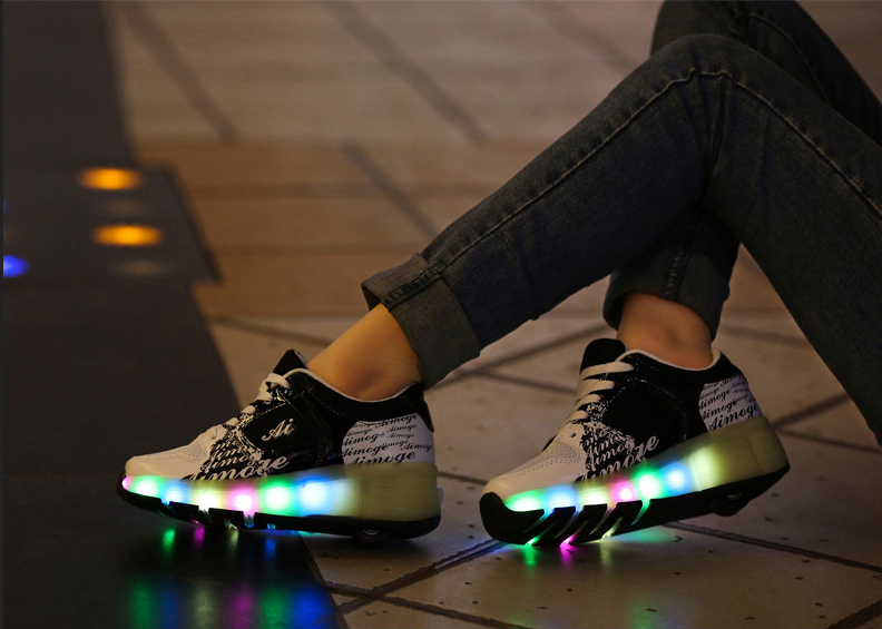 chaussures a roulettes chaussure led