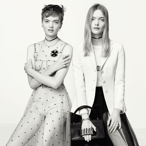 Twin Models Ruth Bell & May Bell by Brigitte Lacombe for Dior Spring-Summer 2017 Campaign
