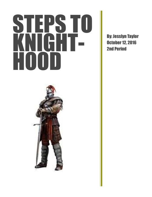 Steps To Knighthood Knight Social Studies Projects Winter Crafts Preschool