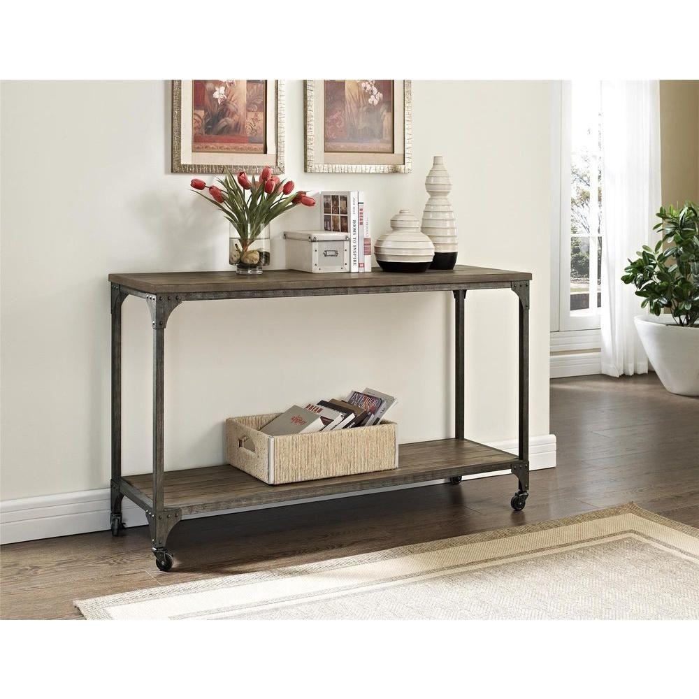 Altra Furniture Altra Cecil Wood Veneer Rustic Console Table-5075096 ...