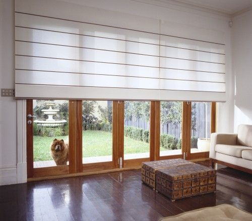 Roman blinds google keres s roman blinds pinterest for Roman shades for wide windows