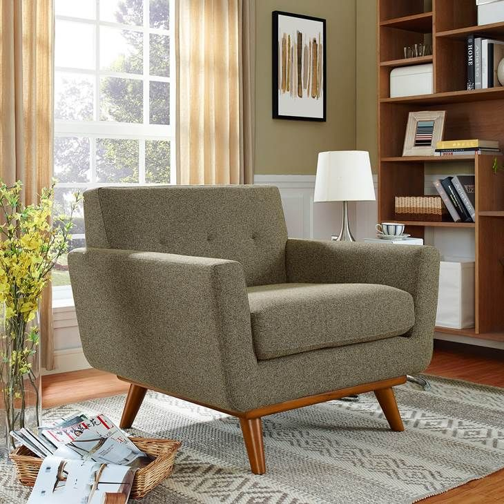 ENGAGE UPHOLSTERED FABRIC ARMCHAIR IN OATMEAL ...