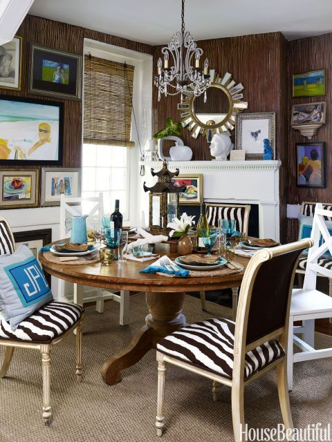 This 250Yearold Cottage Is Bursting With Eclectic Style Adorable Zebra Dining Room Chairs Design Ideas