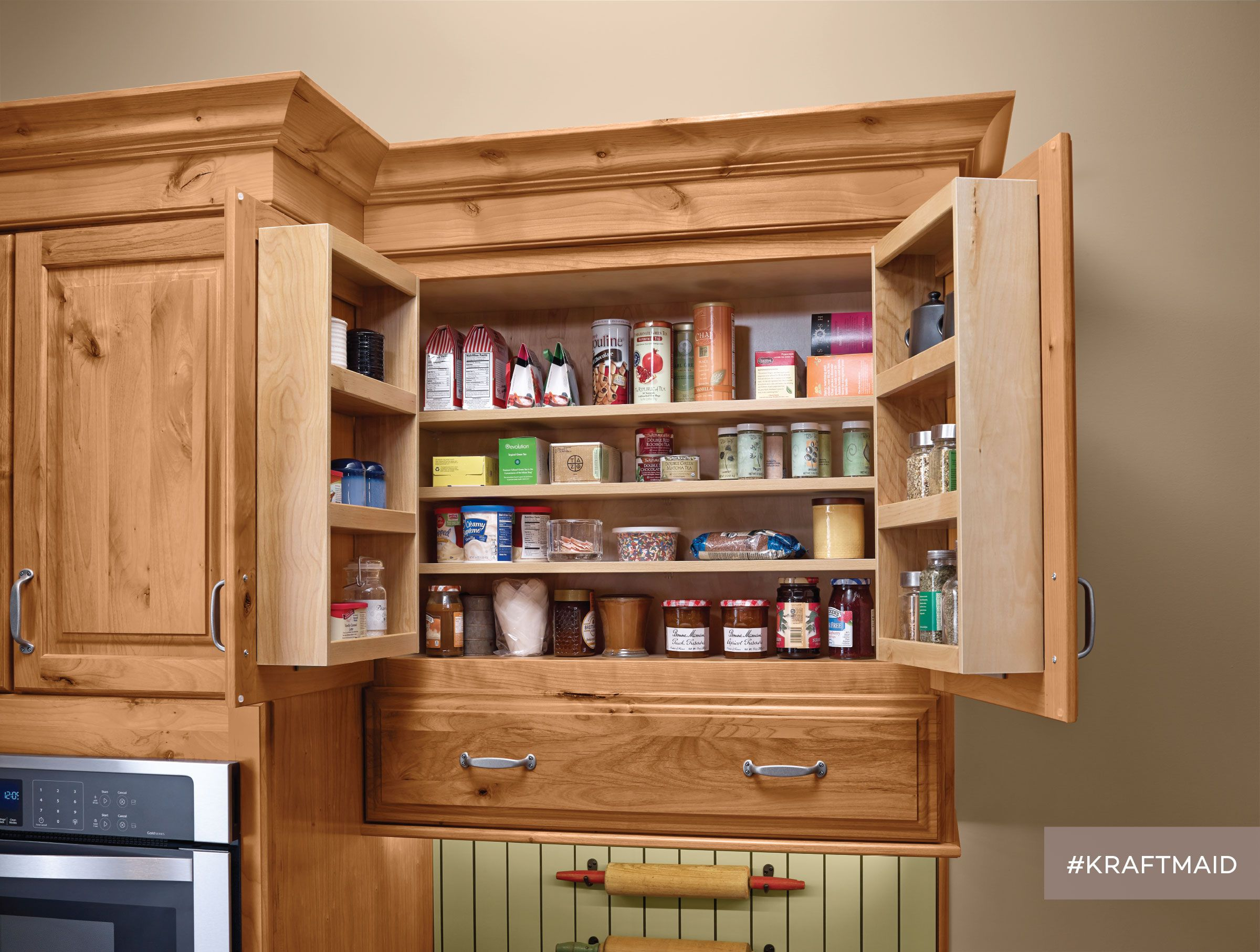 Wall Multi Storage Pantry Kraftmaid Kitchens Kraftmaid Kitchen Cabinets Pantry Wall