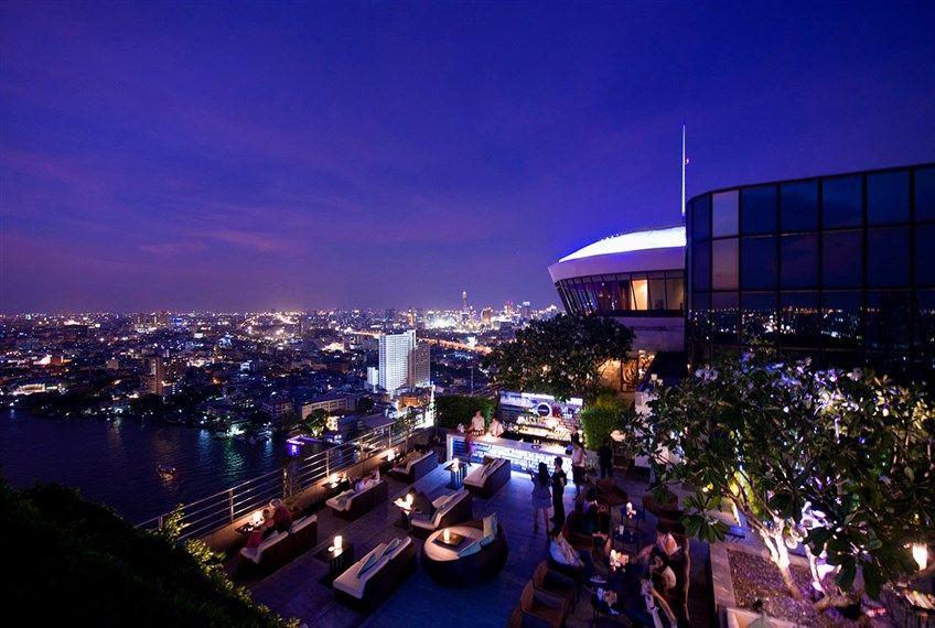 Rooftop Bar at Millenium Hilton Bangkok, #Thailand