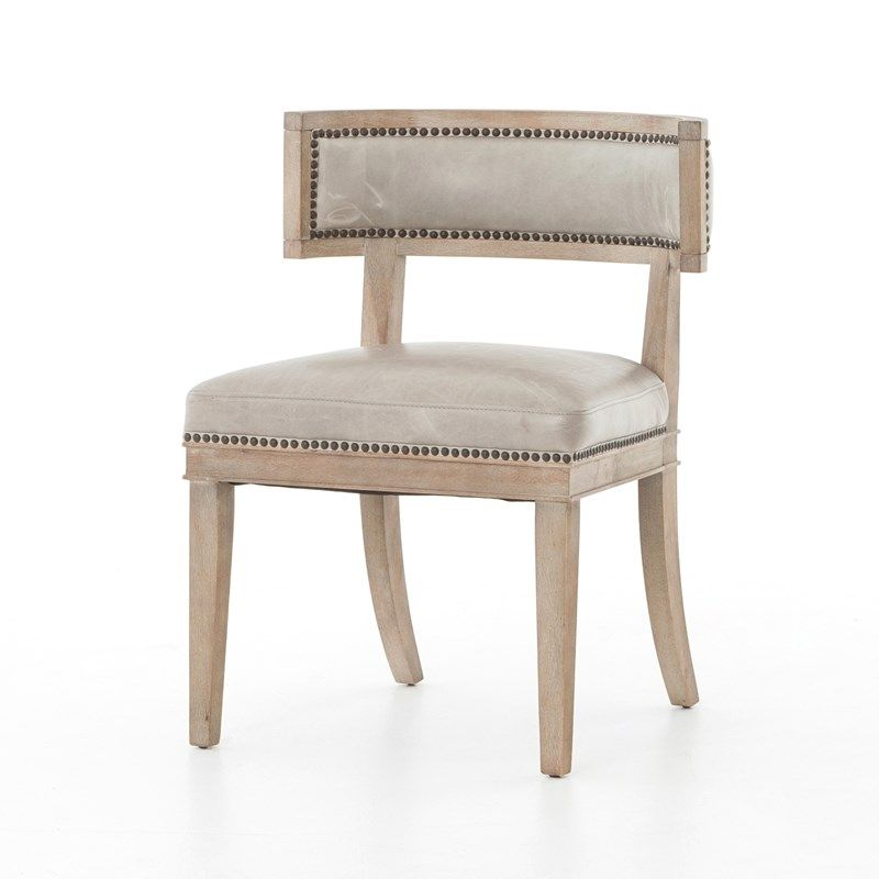 Lounge Room Design In Refined Transitional Style: CARTER DINING CHAIR $435