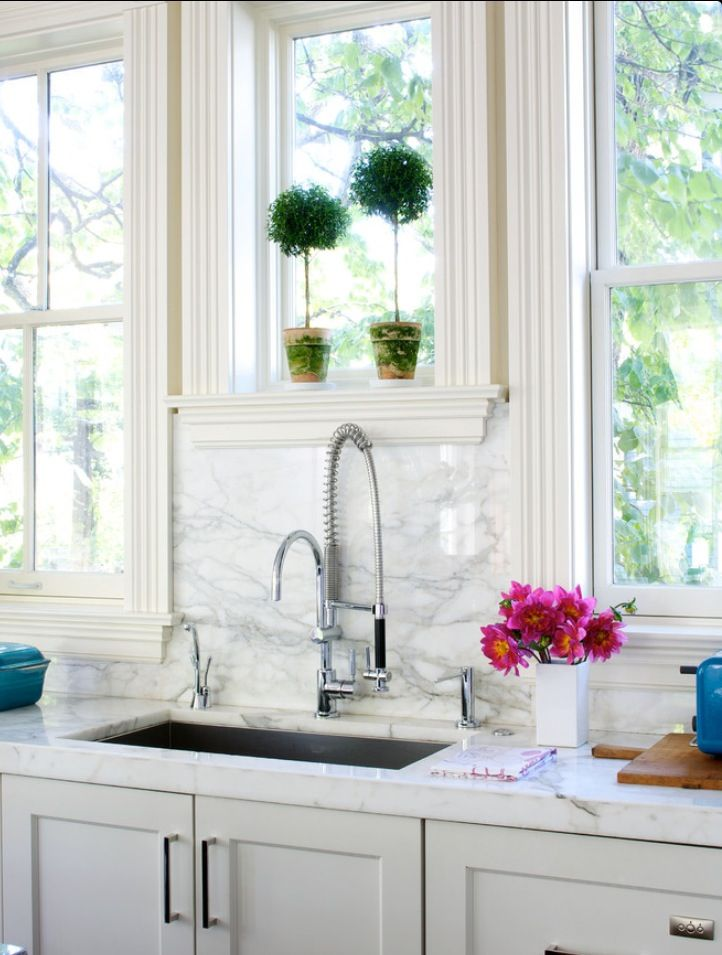 A Trio Of Windows Over Kitchen Sink Kitchen Inspirations