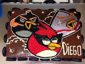 space angry bird cakes