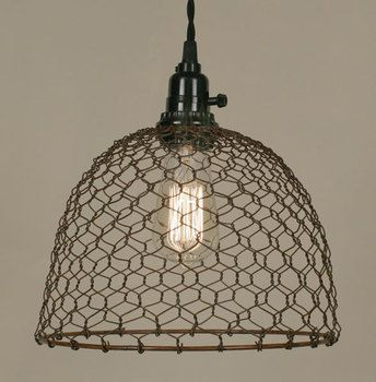 Chicken wire dome pendant light primitive rust pinterest chicken wire dome pendant light primitive rust greentooth Choice Image