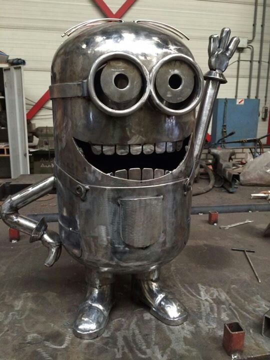Spiksplinternieuw Minion | metal art | Welding projects, Scrap metal art, Metal art XX-28