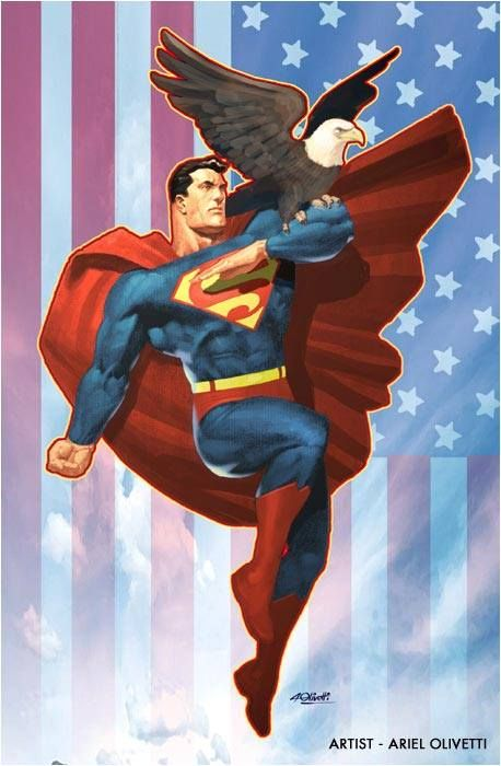 Superman an american bald eagle and the us flag by ariel olivetti superman an american bald eagle and the us flag by ariel olivetti voltagebd Gallery