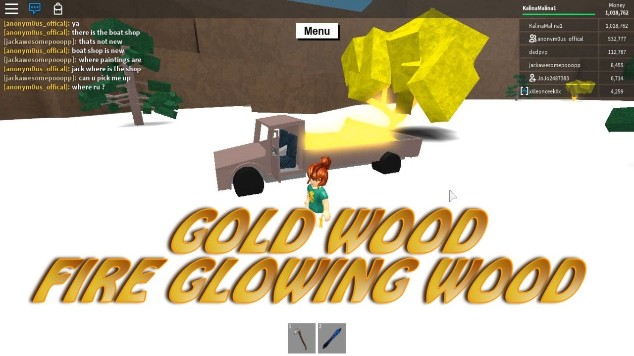 LUMBER TYCOON ROBLOX WINTER GAMES - HOW TO FIND FIRE WOOD