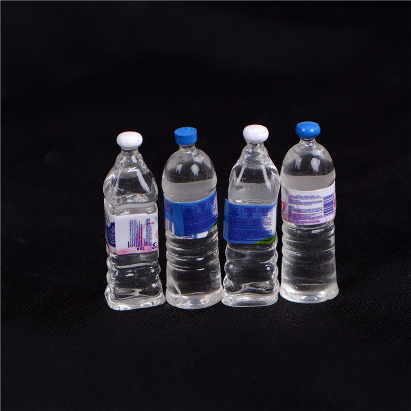 4X Dollhouse Miniature Bottled Mineral Water 1//6 1//12 Scale Model Home Decor HU