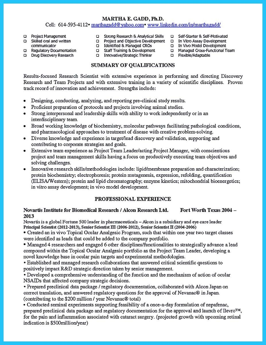 cool sophisticated job for this unbeatable biotech resume check