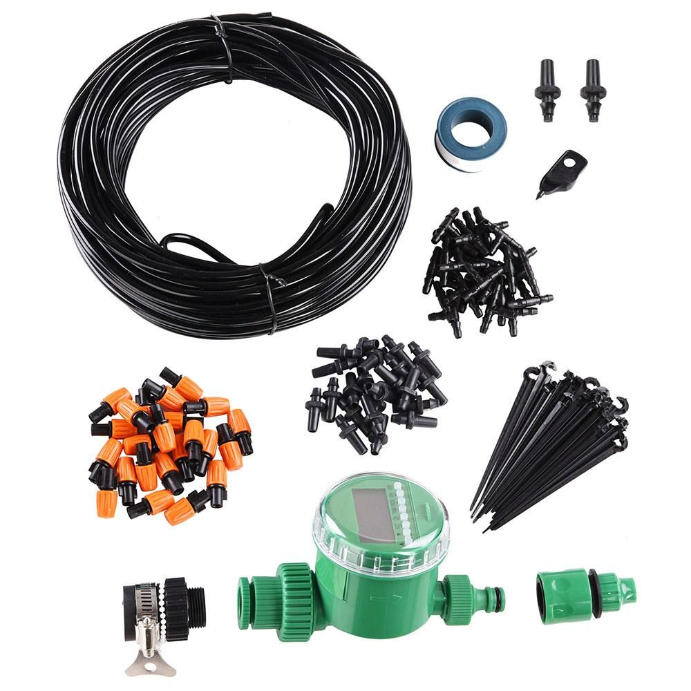 82' Atomizing Drip Irrigation System Automatic Kit w/ Timer
