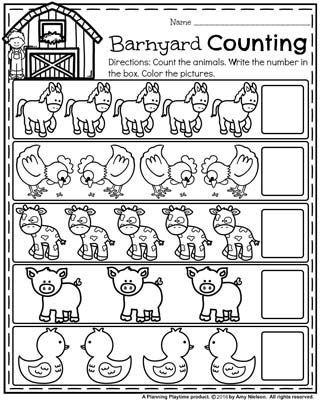 Back to School Preschool Worksheets   Kind