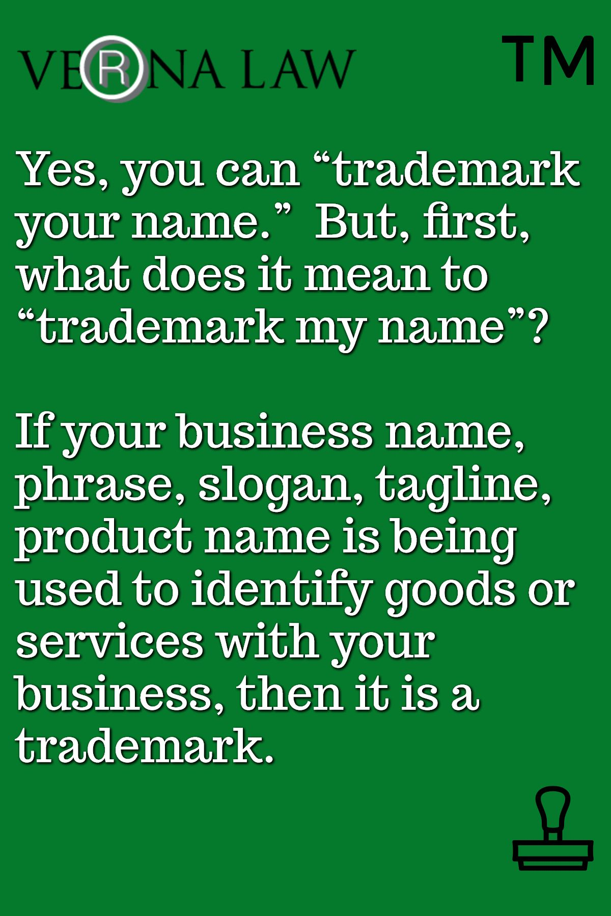 Yes You Can Trademark Your Name But First What Does It Mean To Trademark My Name If Your Business Name P Naming Your Business Business Names Slogan