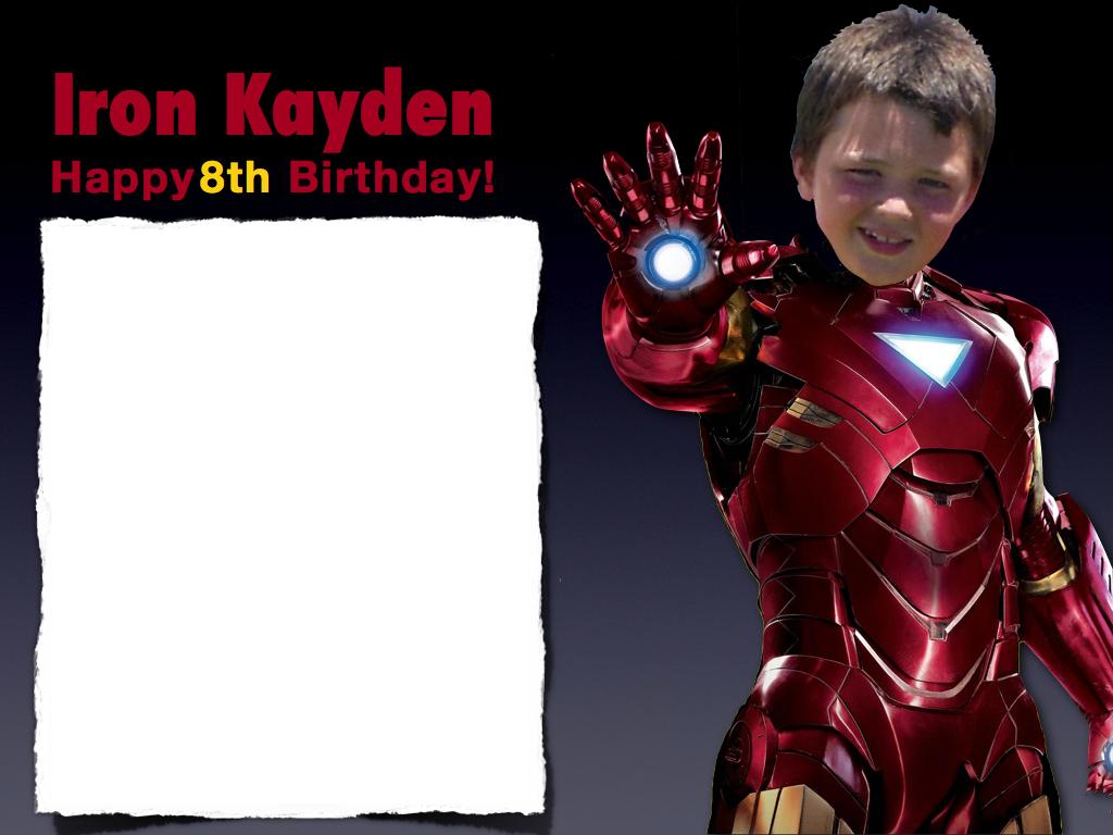Ironman Kayden Birthday Invitation | Iron Man Birthday cakes ...