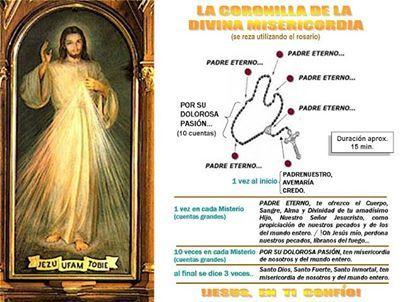 La Coronilla A La Divina Misericordia Padre Nuestro Dios Te Salve María Credo Inicio Cada Divina Misericordia Misericordias Coronilla De La Misericordia