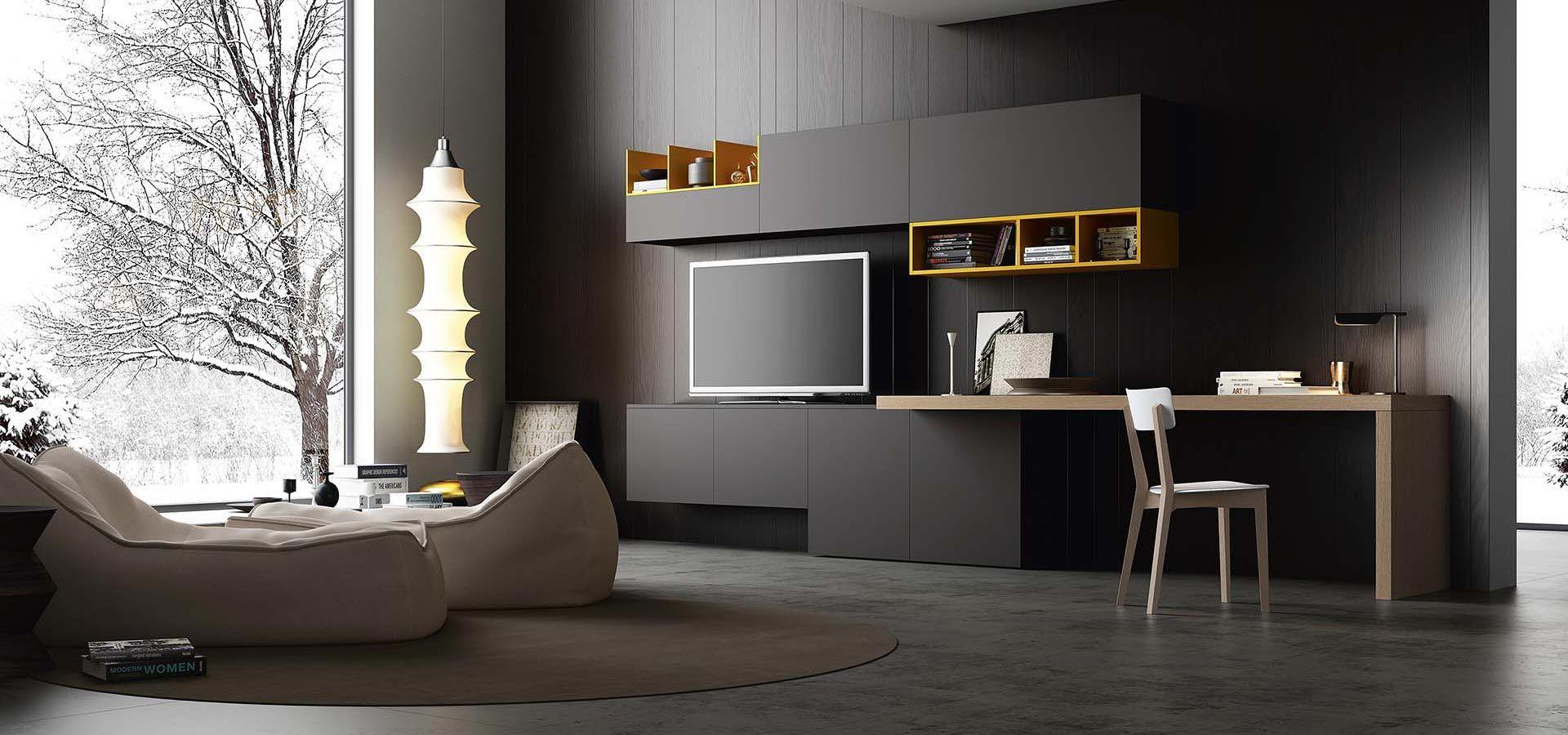 Soggiorno moderno arredo3 strutturato e multifunzione for Mobili x salone
