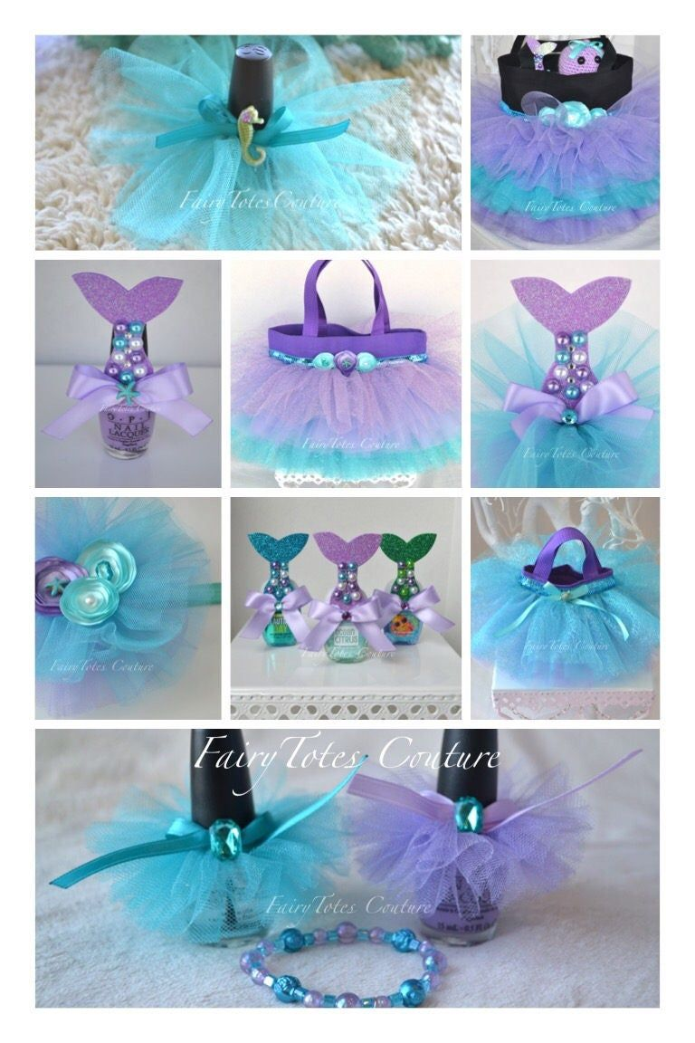 Mermaid Tail Hand Sanitizer Favors Mermaid Tail Favors Etsy In