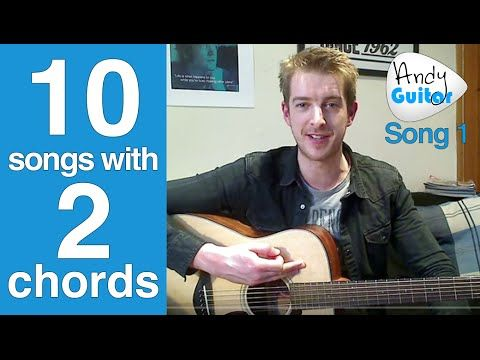 Play TEN guitar songs with two EASY chords | Beginners first guitar lesson - YouTube
