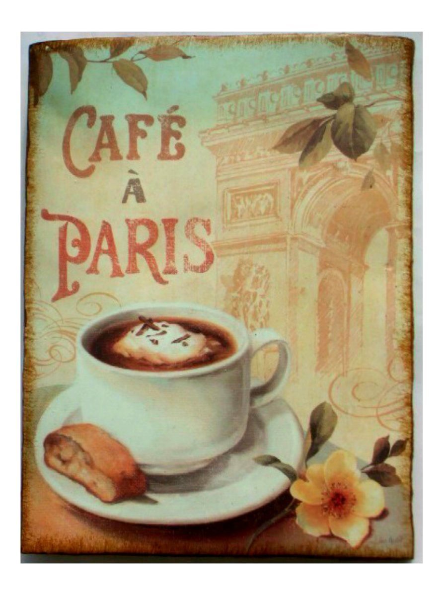 Cafe Paris Plaque French Wall Decor $15.95 | Wake up & smell the ...