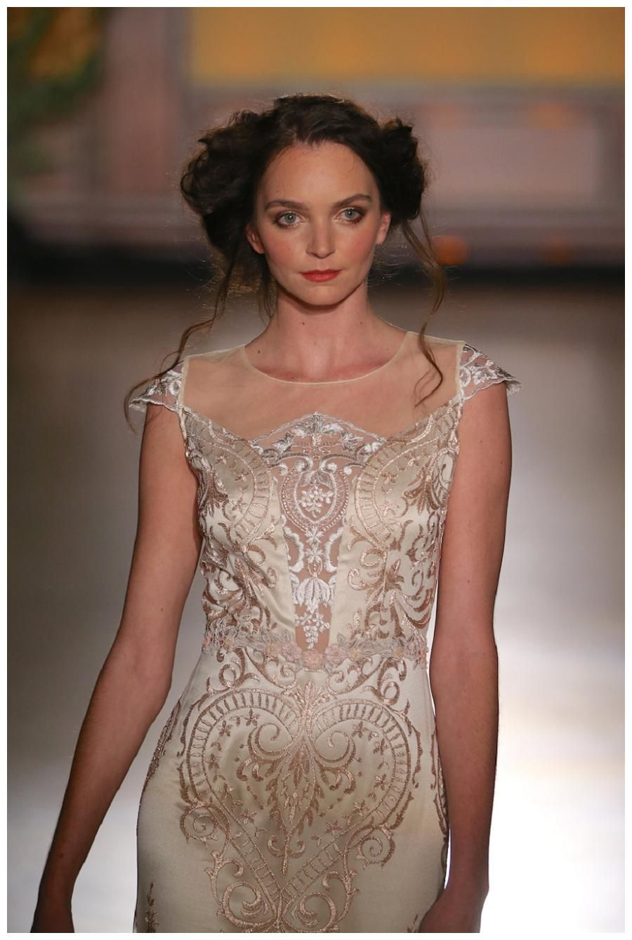 Wedding dress from the Claire Pettibone Fall 2016 Bridal Collection.