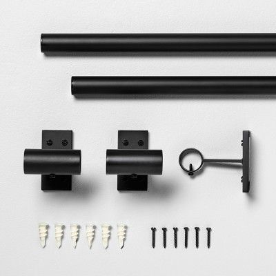 84 Curtain Rod Matte Black Hearth Hand With Magnolia Curtain Rods Hearth Hand With Magnolia Metal