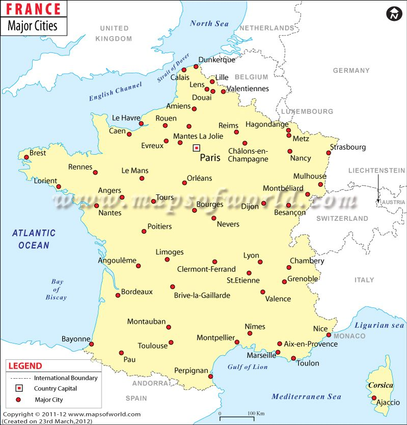 Cities Of France Map.France Major Cities See Where You Can Find The Major Cities Of