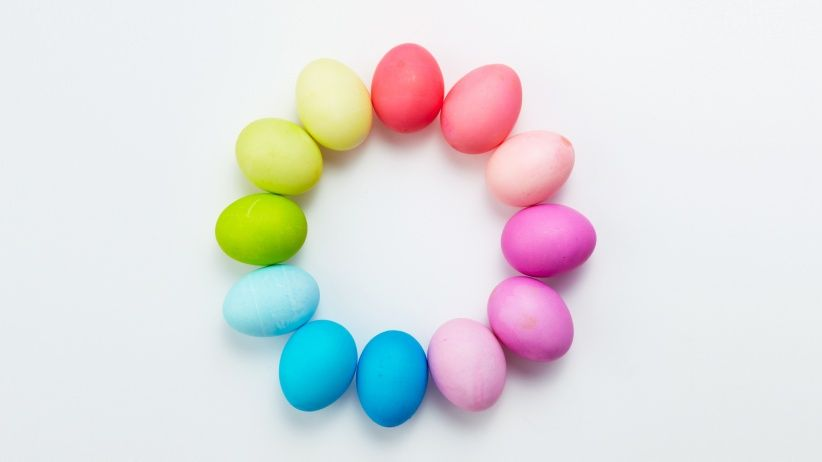 Easter Egg Dyeing Color Wheels and more on MarthaStewart.com