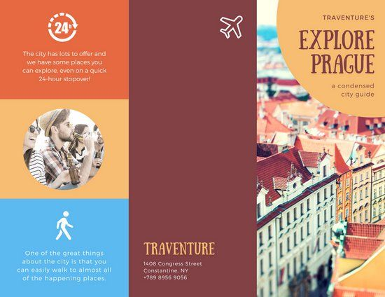 Rustic Prague Travel Brochure Emergency Preparedness Guide - travel brochure