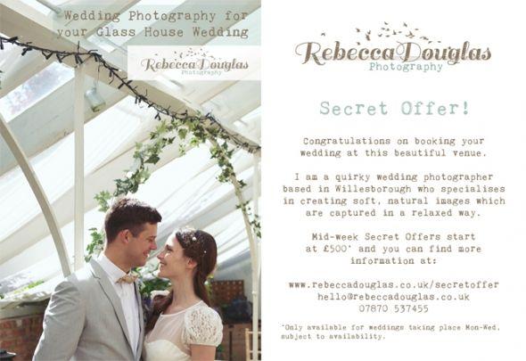 Wedding Photography Secret Gardens Kent Mid-week offer
