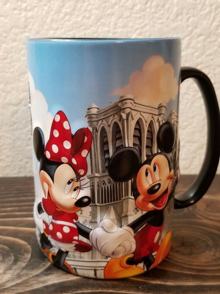 coffee tea cup walt parks mickey mouse Radio Disney Black Ceramic Mug