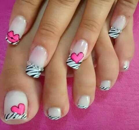 Corazón Uñas Pinterest Nails Nail Art Y Nail Art Designs