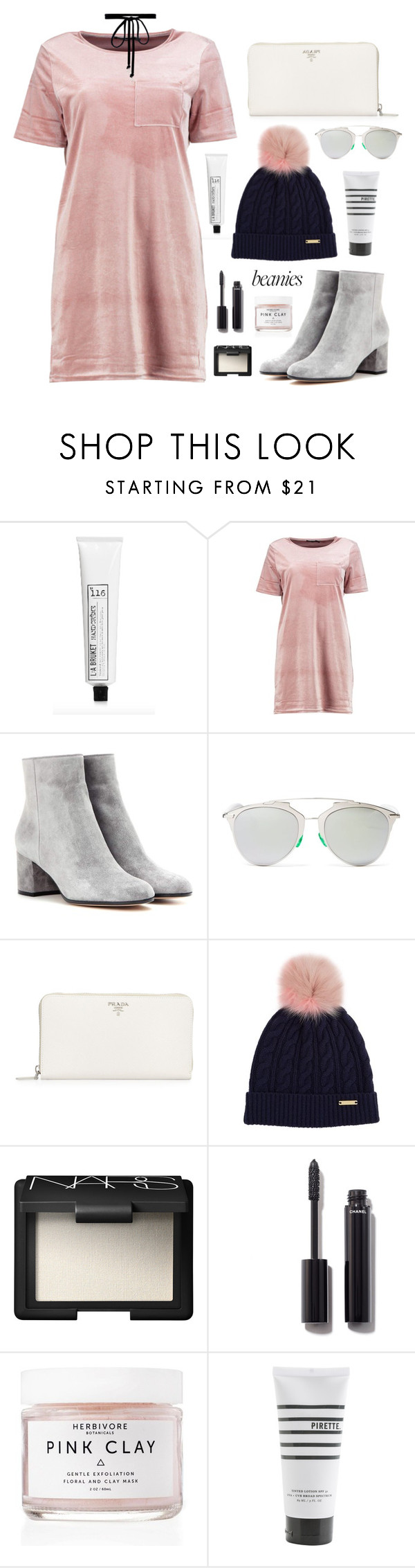"""Hey Baby"" by cyberqueenn on Polyvore featuring L:A Bruket, Boohoo, Gianvito Rossi, Christian Dior, Prada, Burberry, NARS Cosmetics, Chanel, Herbivore and Pirette"