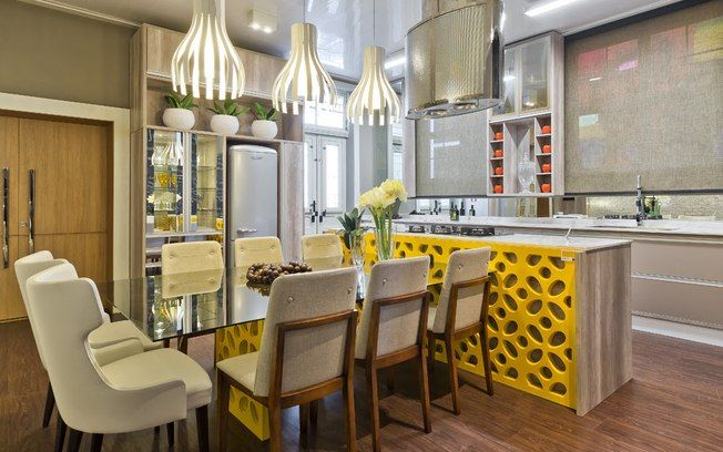 Artesanato Com Cd Passo A Passo ~ cozinha americana cobogó coloridos Pesquisa Google cozinha Pinterest Armário espelhado