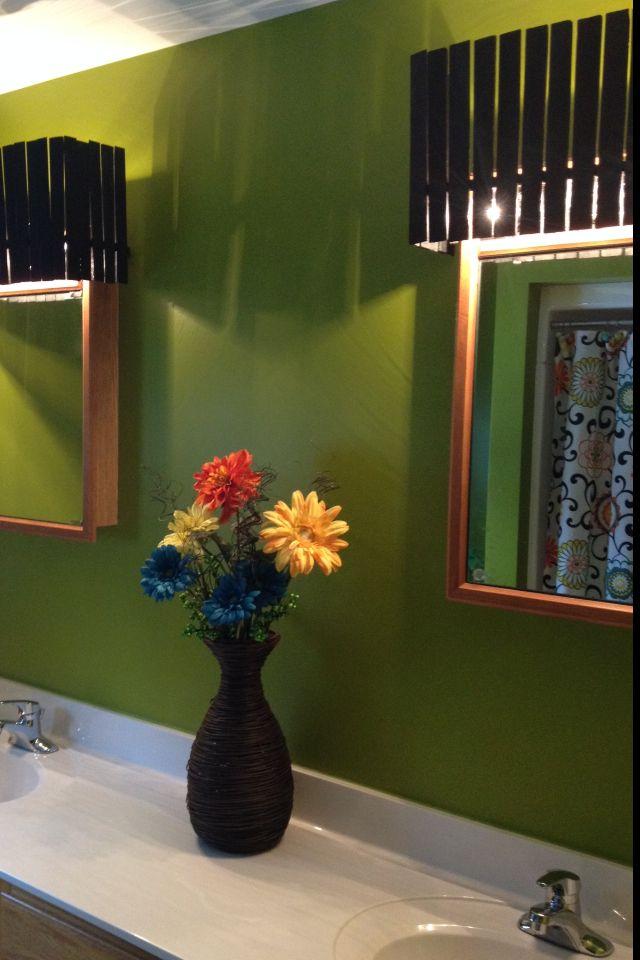 Ugly Bathroom Light Fixtures cover ugly hollywood lights- bathroom | diy home | pinterest
