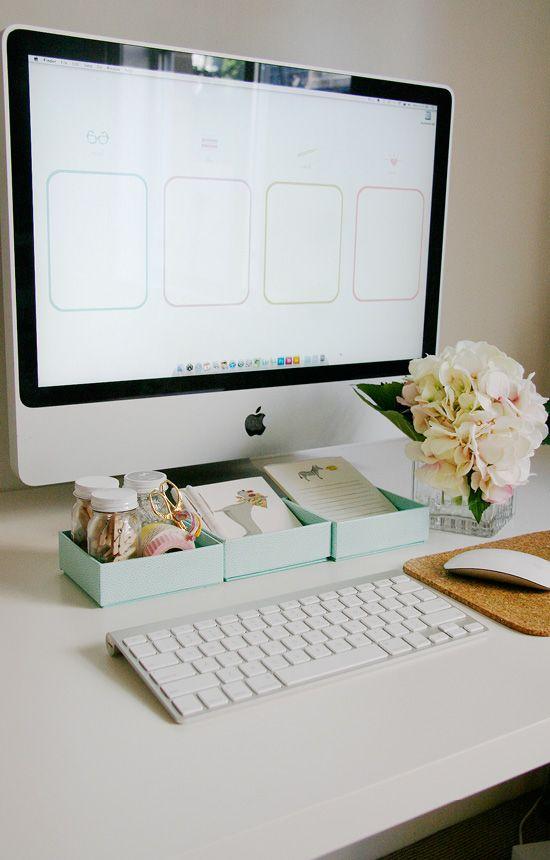 A Pretty Organized Desktop Free Wallpaper Pretty Fluffy Desktop Organization Office Organization Office Crafts