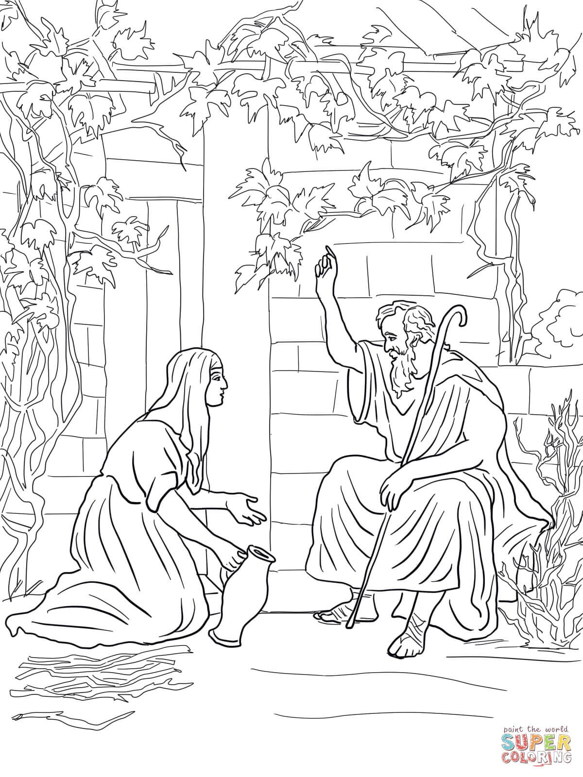 Elijah And The Widow Of Zarephath Elijah And The Widow Bible Coloring Pages Coloring Pages