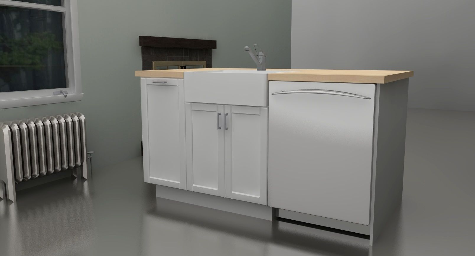 Kitchen cabinet tremendous corner base sink cabinet with half moon - Kitchens
